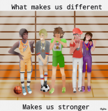 """What makes us different makes us stronger"" by Wiktoria Z., Poland"